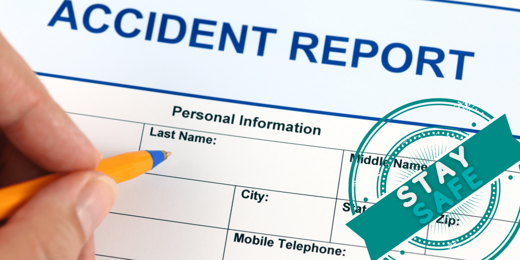 filling in an accident report form
