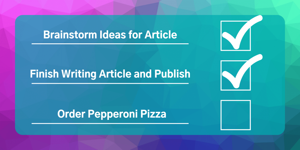 article writing checklist